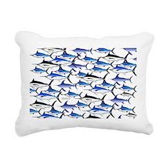 School of Marlin and a Swordfish Rectangular Canva
