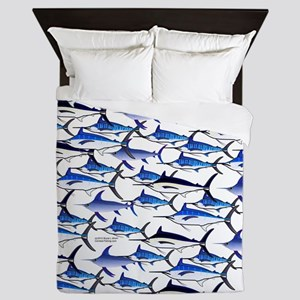 School of Marlin and a Swordfish Queen Duvet