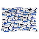 School of Marlin and a Swordfish Pillow Case