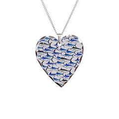 School of Marlin and a Swordfish Necklace