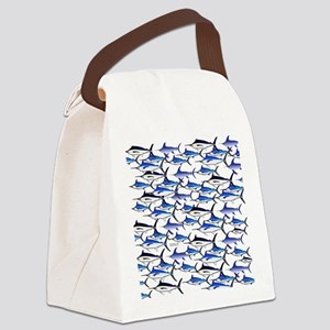 School of Marlin and a Swordfish Canvas Lunch Bag