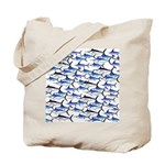 School of Marlin and a Swordfish Tote Bag