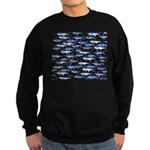 School of Marlin and a Swordfish Sweatshirt (dark)
