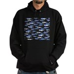School of Marlin and a Swordfish Hoodie (dark)