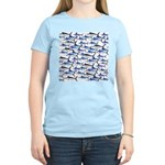 School of Marlin and a Swordfish Women's Light T-S