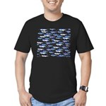 School of Marlin and a Swordfish Men's Fitted T-Sh