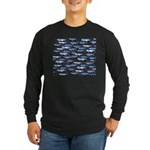 School of Marlin and a Swordfish Long Sleeve Dark