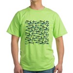 School of Marlin and a Swordfish Green T-Shirt