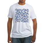 School of Marlin and a Swordfish Fitted T-Shirt