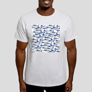 School of Marlin and a Swordfish Light T-Shirt