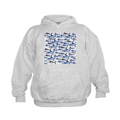 School of Marlin and a Swordfish Hoodie