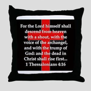 1 Thessalonians 4:16 Throw Pillow