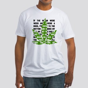 Weed Poem Fitted T-Shirt