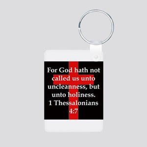 1 Thessalonians 4:7 Aluminum Photo Keychain