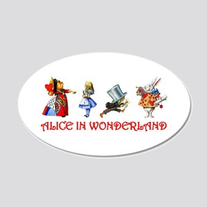 Alice and Her Friends in Wonderland 20x12 Oval Wal