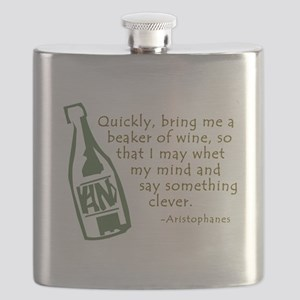 Bring Me Wine Quote Flask