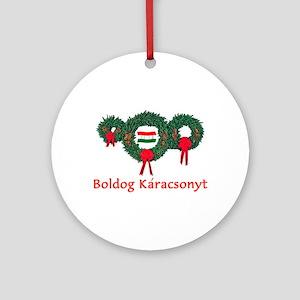 Hungary Christmas 2 Ornament (Round)