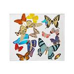 Beautiful Butterflies Throw Blanket