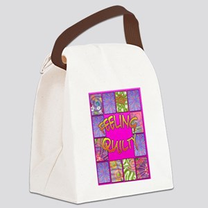 Feelin Quilty Canvas Lunch Bag