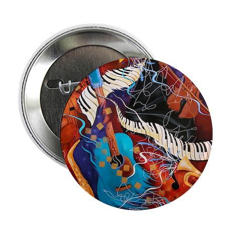 "Jazz Music Guitar Piano Scene 2.25"" Button"