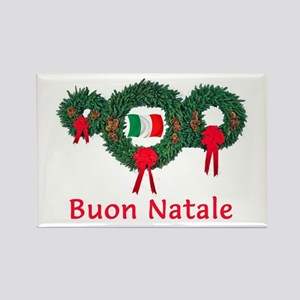 Italy Christmas 2 Rectangle Magnet