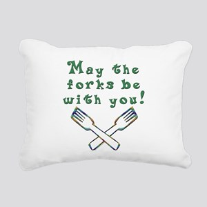 Forks Be With You Rectangular Canvas Pillow