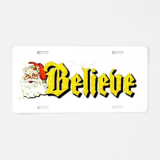 Santa Claus Aluminum License Plate