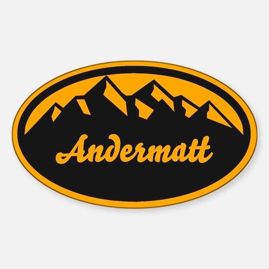 Andermatt Oval Sticker (Oval)
