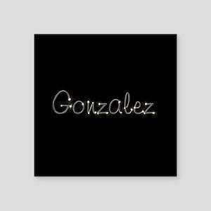 "Gonzalez Spark Square Sticker 3"" x 3"""