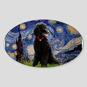 Starry / Std Poodle(bl) Sticker