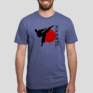 Karate Mens Tri-blend T-Shirt
