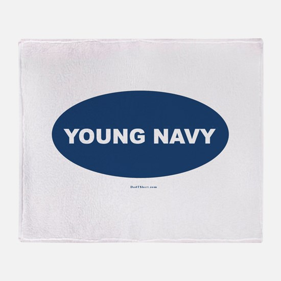Young Navy Throw Blanket