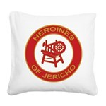 HOROINES OF JERICHO Square Canvas Pillow