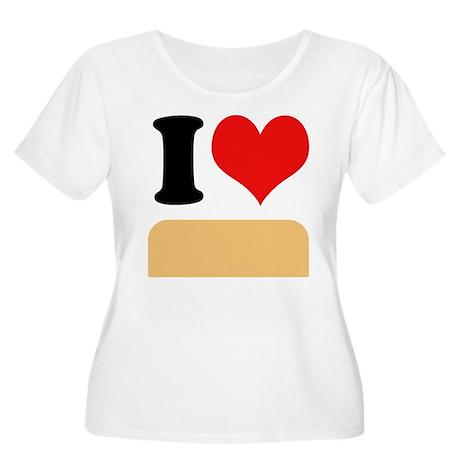 I heart twinkies Women's Plus Size Scoop Neck T-Sh