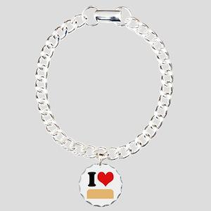 I heart twinkies Charm Bracelet, One Charm