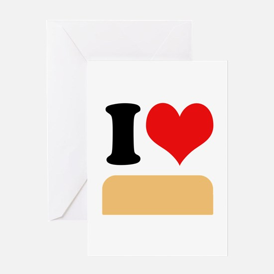 I heart twinkies Greeting Card