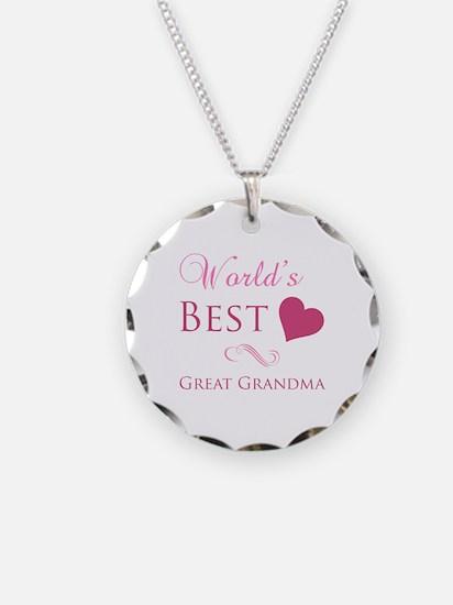 World's Best Great Grandma (Heart) Necklace