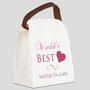 World's Best Sister-In-Law (Heart) Canvas Lunch Ba