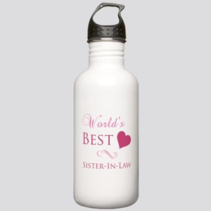 World's Best Sister-In-Law (Heart) Stainless Water