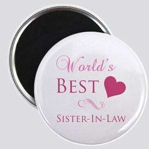 World's Best Sister-In-Law (Heart) Magnet