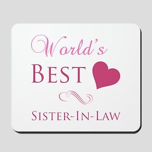 World's Best Sister-In-Law (Heart) Mousepad