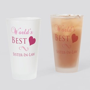 World's Best Sister-In-Law (Heart) Drinking Glass