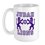 18 Lions of Judah Large Mug