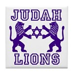 18 Lions of Judah Tile Coaster