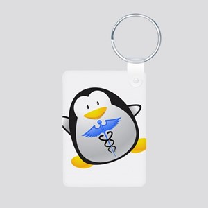 Penguin Medic Aluminum Photo Keychain