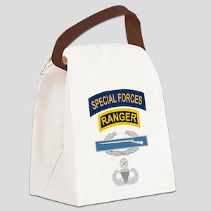 SF Ranger CIB Airborne Master Canvas Lunch Bag