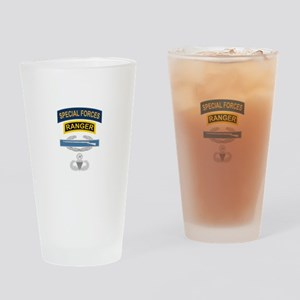 SF Ranger CIB Airborne Master Drinking Glass