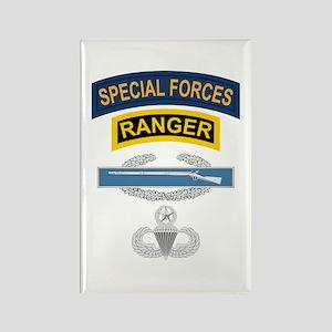 SF Ranger CIB Airborne Master Rectangle Magnet