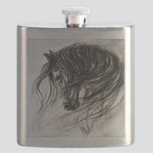 Mane Dance art Flask