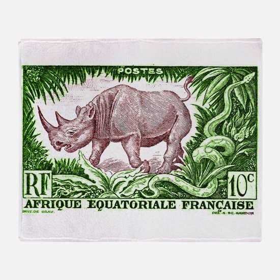 1947 French Equatorial Africa Rhinoceros Stamp St